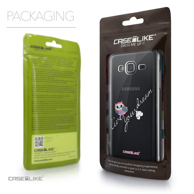 Packaging - CASEiLIKE Samsung Galaxy J3 (2016) back cover Owl Graphic Design 3314