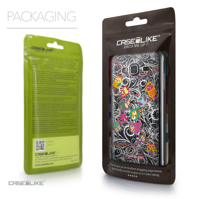 Packaging - CASEiLIKE Samsung Galaxy J3 (2016) back cover Owl Graphic Design 3316