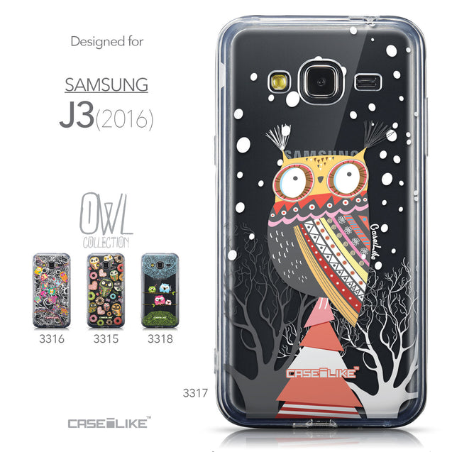 Collection - CASEiLIKE Samsung Galaxy J3 (2016) back cover Owl Graphic Design 3317
