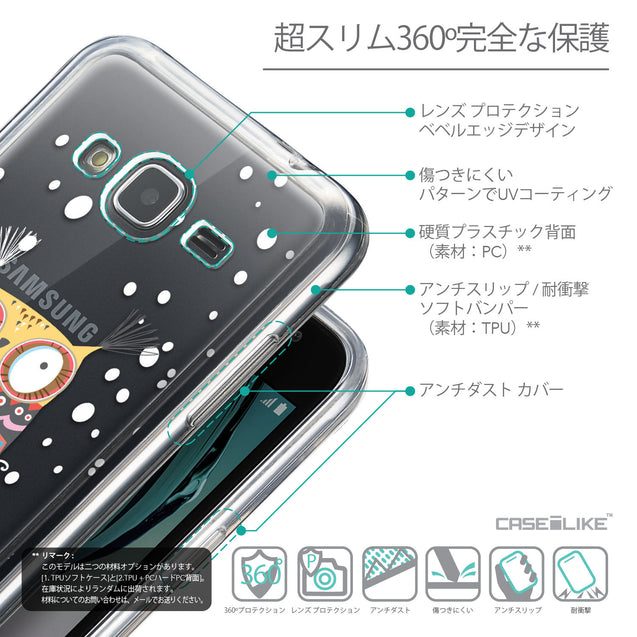 Details in Japanese - CASEiLIKE Samsung Galaxy J3 (2016) back cover Owl Graphic Design 3317