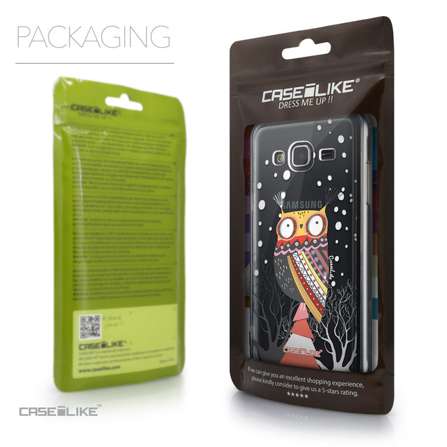 Packaging - CASEiLIKE Samsung Galaxy J3 (2016) back cover Owl Graphic Design 3317