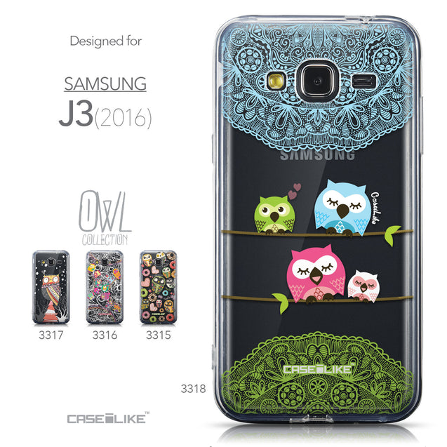 Collection - CASEiLIKE Samsung Galaxy J3 (2016) back cover Owl Graphic Design 3318