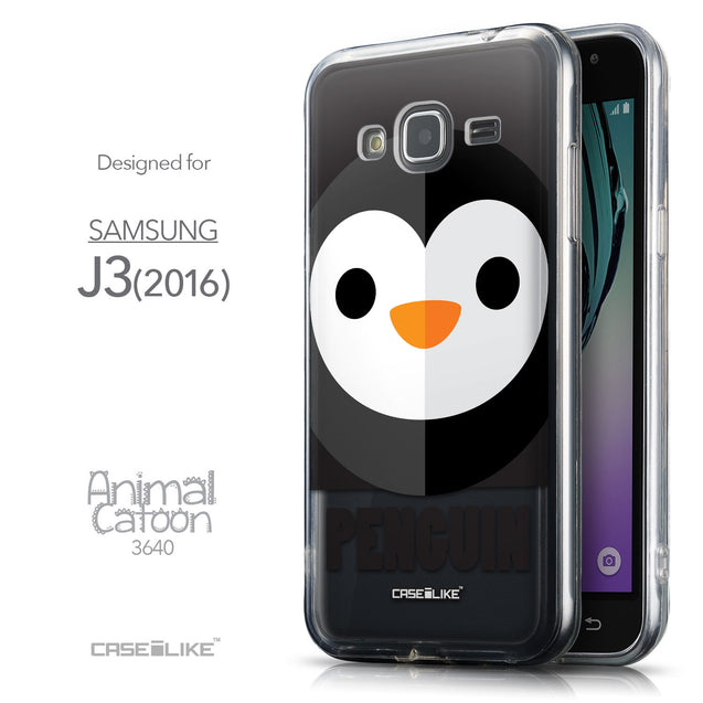 Front & Side View - CASEiLIKE Samsung Galaxy J3 (2016) back cover Animal Cartoon 3640
