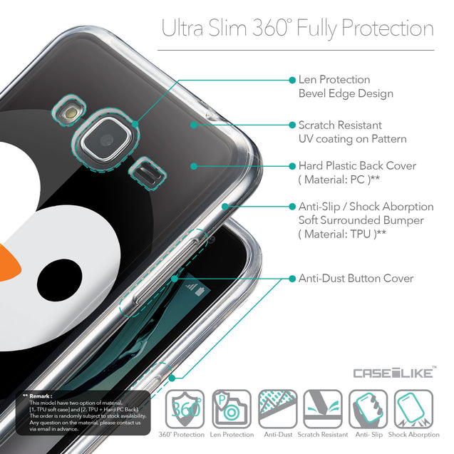 Details in English - CASEiLIKE Samsung Galaxy J3 (2016) back cover Animal Cartoon 3640