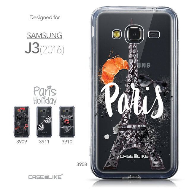 Collection - CASEiLIKE Samsung Galaxy J3 (2016) back cover Paris Holiday 3908
