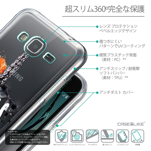 Details in Japanese - CASEiLIKE Samsung Galaxy J3 (2016) back cover Paris Holiday 3908