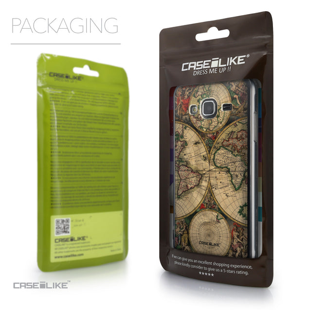 Packaging - CASEiLIKE Samsung Galaxy J3 (2016) back cover World Map Vintage 4607