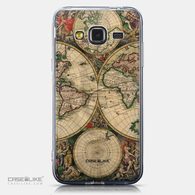 CASEiLIKE Samsung Galaxy J3 (2016) back cover World Map Vintage 4607
