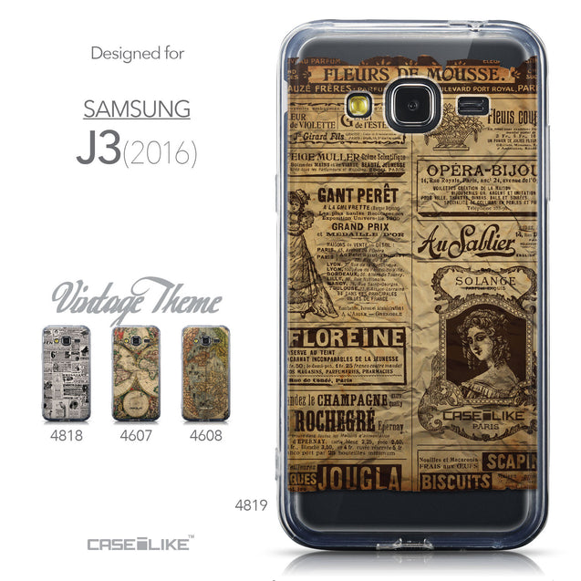Collection - CASEiLIKE Samsung Galaxy J3 (2016) back cover Vintage Newspaper Advertising 4819