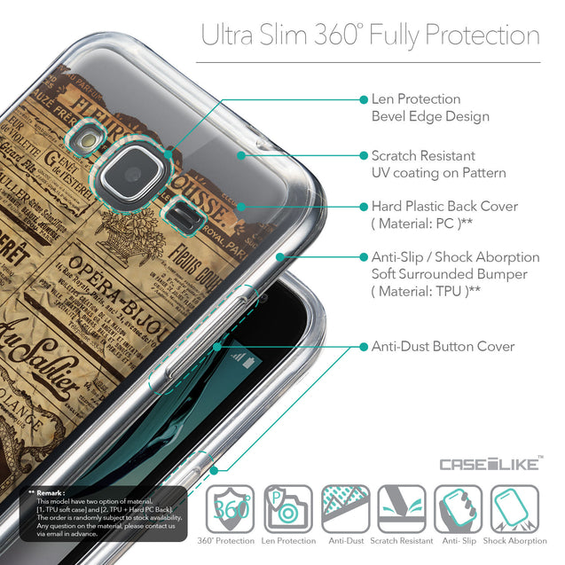 Details in English - CASEiLIKE Samsung Galaxy J3 (2016) back cover Vintage Newspaper Advertising 4819
