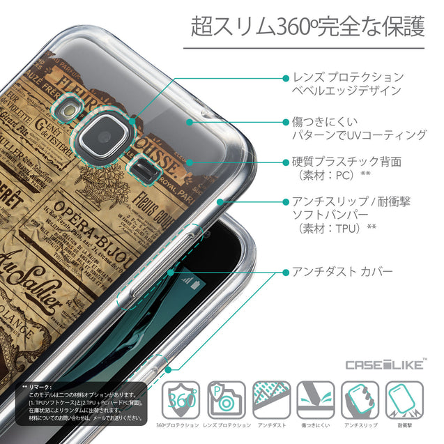 Details in Japanese - CASEiLIKE Samsung Galaxy J3 (2016) back cover Vintage Newspaper Advertising 4819