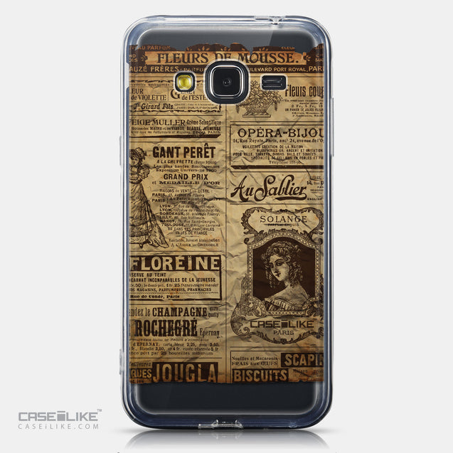 CASEiLIKE Samsung Galaxy J3 (2016) back cover Vintage Newspaper Advertising 4819