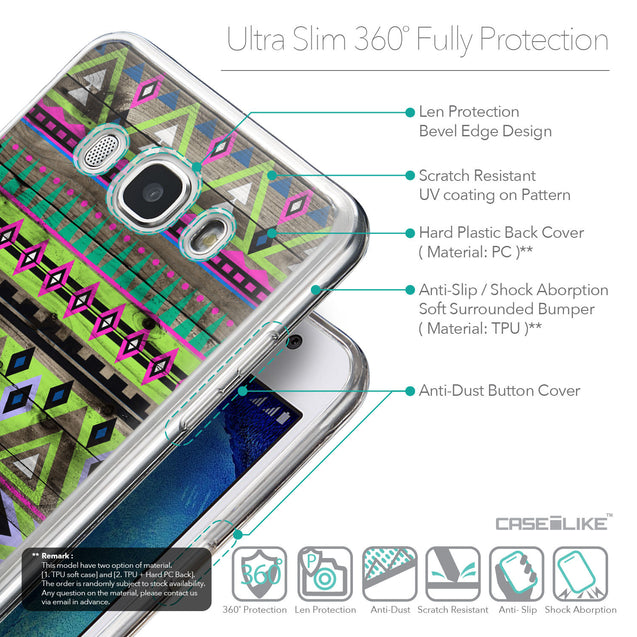 Details in English - CASEiLIKE Samsung Galaxy J5 (2016) back cover Indian Tribal Theme Pattern 2049