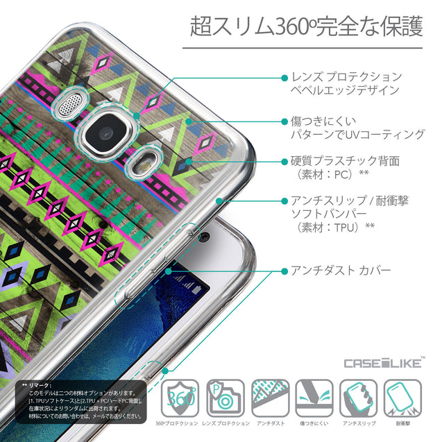 Details in Japanese - CASEiLIKE Samsung Galaxy J5 (2016) back cover Indian Tribal Theme Pattern 2049