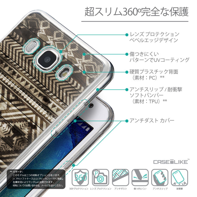 Details in Japanese - CASEiLIKE Samsung Galaxy J5 (2016) back cover Indian Tribal Theme Pattern 2050