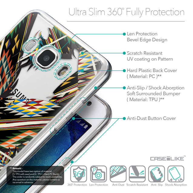 Details in English - CASEiLIKE Samsung Galaxy J5 (2016) back cover Indian Tribal Theme Pattern 2053
