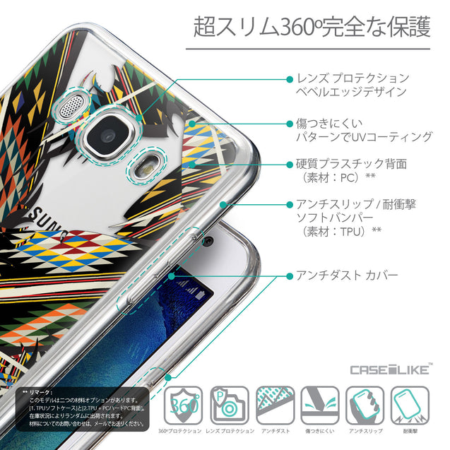 Details in Japanese - CASEiLIKE Samsung Galaxy J5 (2016) back cover Indian Tribal Theme Pattern 2053