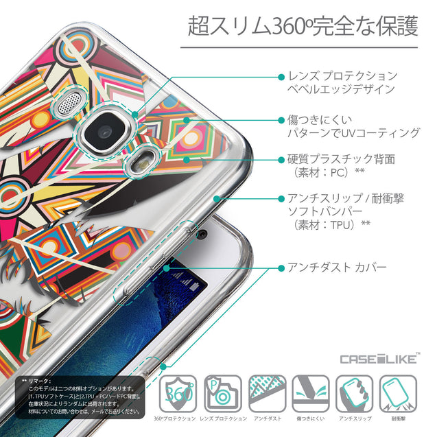 Details in Japanese - CASEiLIKE Samsung Galaxy J5 (2016) back cover Indian Tribal Theme Pattern 2054