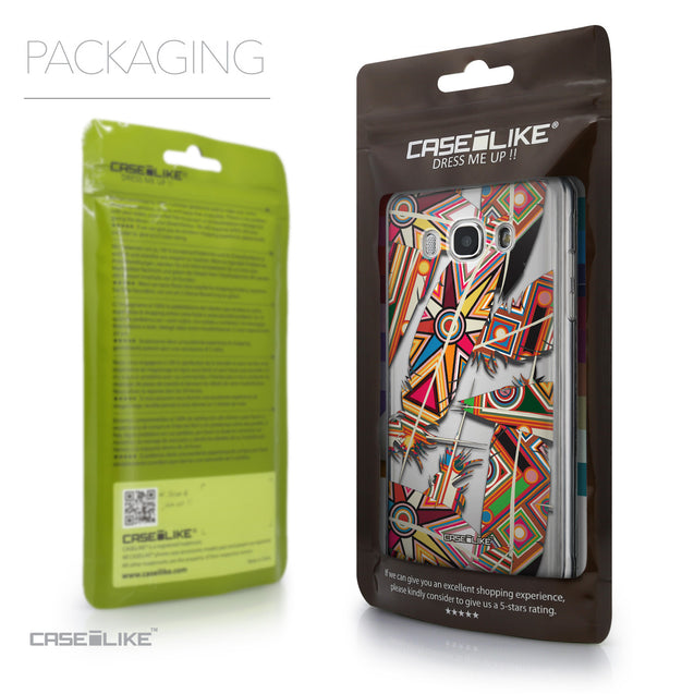 Packaging - CASEiLIKE Samsung Galaxy J5 (2016) back cover Indian Tribal Theme Pattern 2054