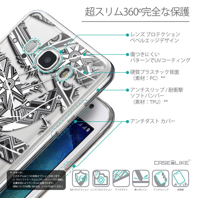Details in Japanese - CASEiLIKE Samsung Galaxy J5 (2016) back cover Indian Tribal Theme Pattern 2056