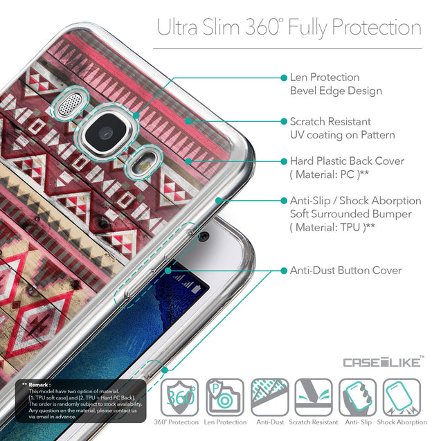 Details in English - CASEiLIKE Samsung Galaxy J5 (2016) back cover Indian Tribal Theme Pattern 2057