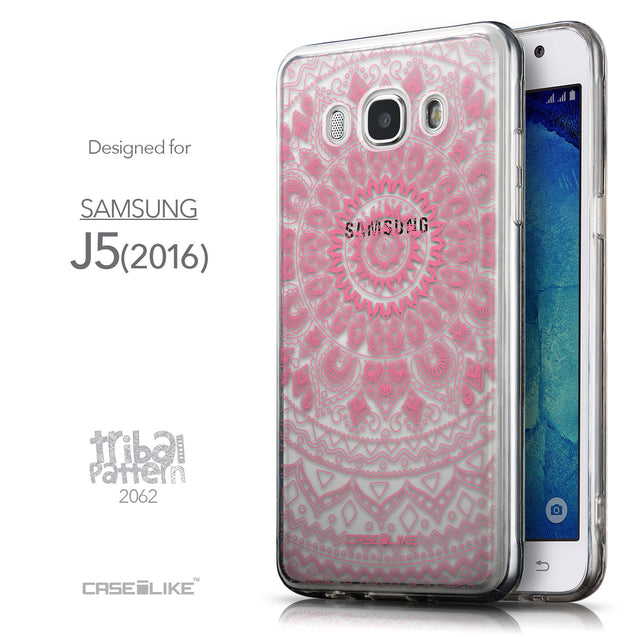Front & Side View - CASEiLIKE Samsung Galaxy J5 (2016) back cover Indian Line Art 2062