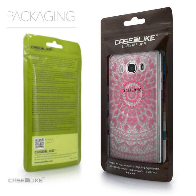 Packaging - CASEiLIKE Samsung Galaxy J5 (2016) back cover Indian Line Art 2062