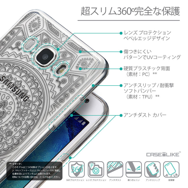 Details in Japanese - CASEiLIKE Samsung Galaxy J5 (2016) back cover Indian Line Art 2063