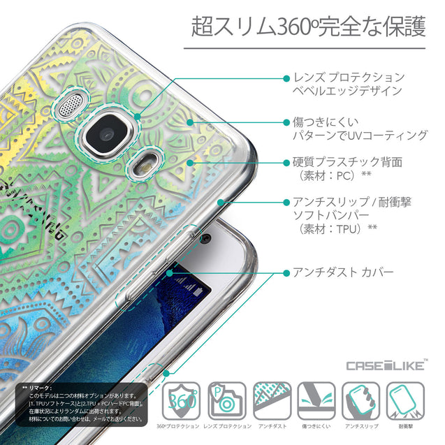 Details in Japanese - CASEiLIKE Samsung Galaxy J5 (2016) back cover Indian Line Art 2064