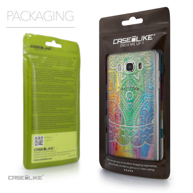 Packaging - CASEiLIKE Samsung Galaxy J5 (2016) back cover Indian Line Art 2064