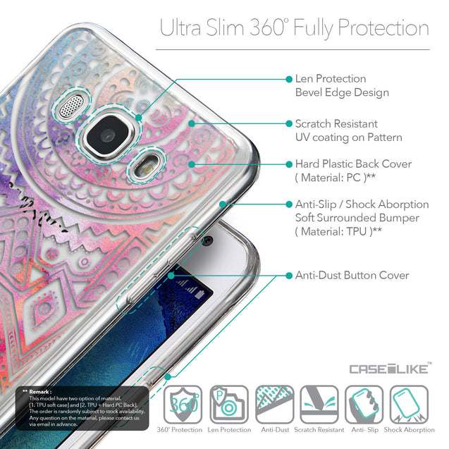 Details in English - CASEiLIKE Samsung Galaxy J5 (2016) back cover Indian Line Art 2065
