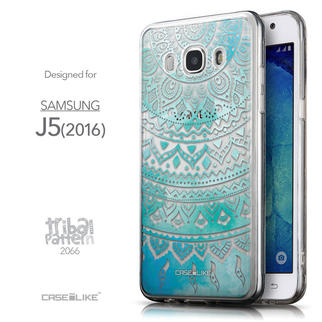Front & Side View - CASEiLIKE Samsung Galaxy J5 (2016) back cover Indian Line Art 2066
