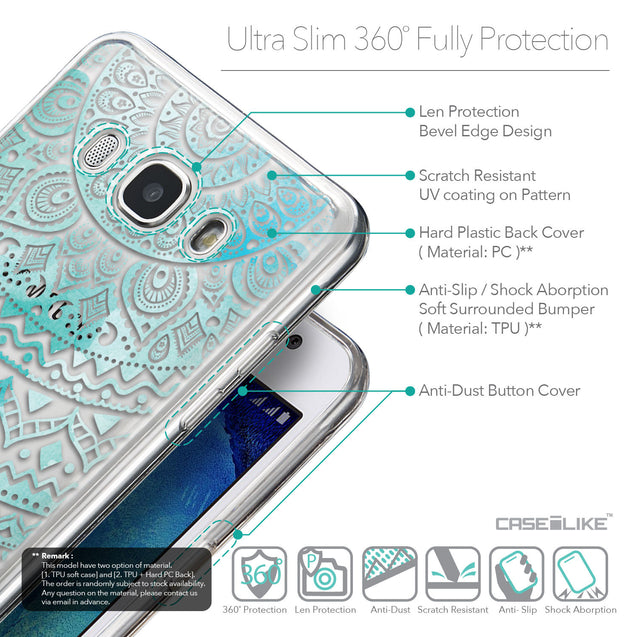 Details in English - CASEiLIKE Samsung Galaxy J5 (2016) back cover Indian Line Art 2066