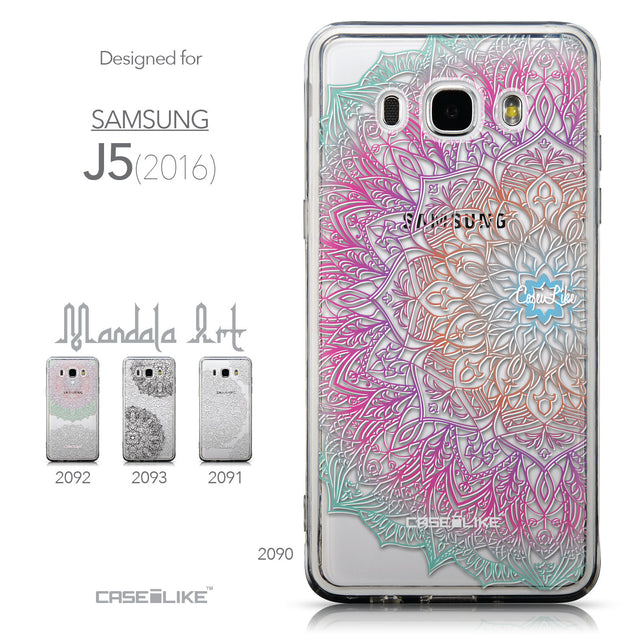Collection - CASEiLIKE Samsung Galaxy J5 (2016) back cover Mandala Art 2090