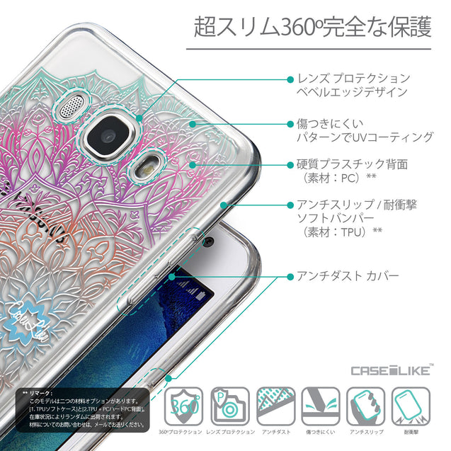 Details in Japanese - CASEiLIKE Samsung Galaxy J5 (2016) back cover Mandala Art 2090