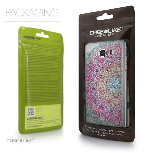 Packaging - CASEiLIKE Samsung Galaxy J5 (2016) back cover Mandala Art 2090