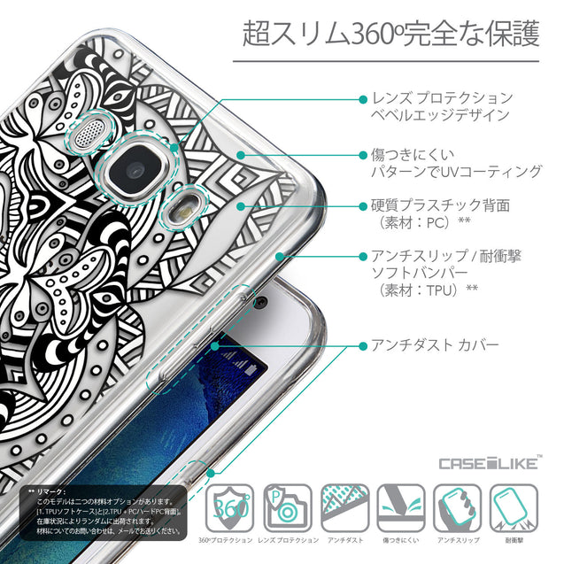 Details in Japanese - CASEiLIKE Samsung Galaxy J5 (2016) back cover Mandala Art 2096