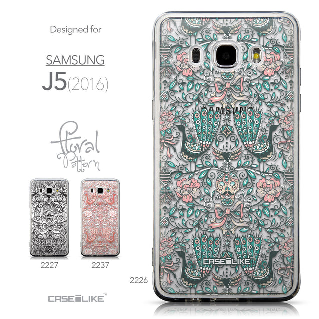 Collection - CASEiLIKE Samsung Galaxy J5 (2016) back cover Roses Ornamental Skulls Peacocks 2226