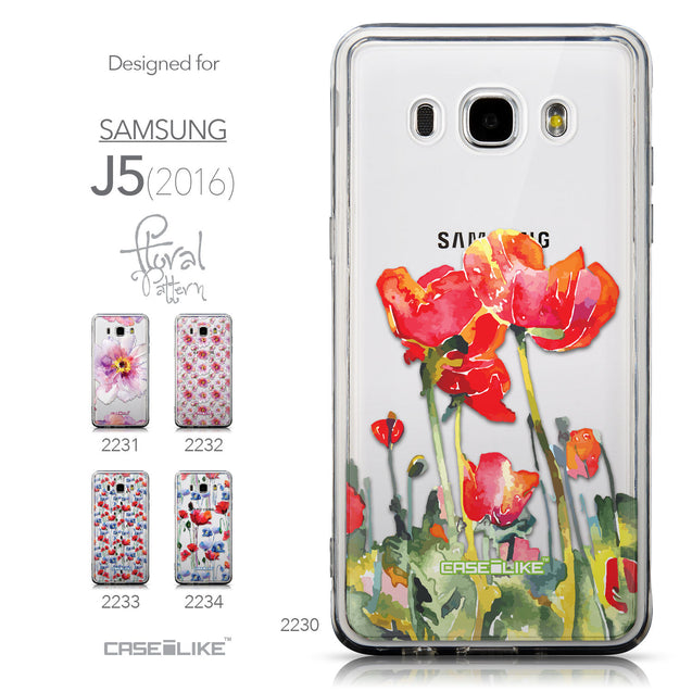 Collection - CASEiLIKE Samsung Galaxy J5 (2016) back cover Watercolor Floral 2230