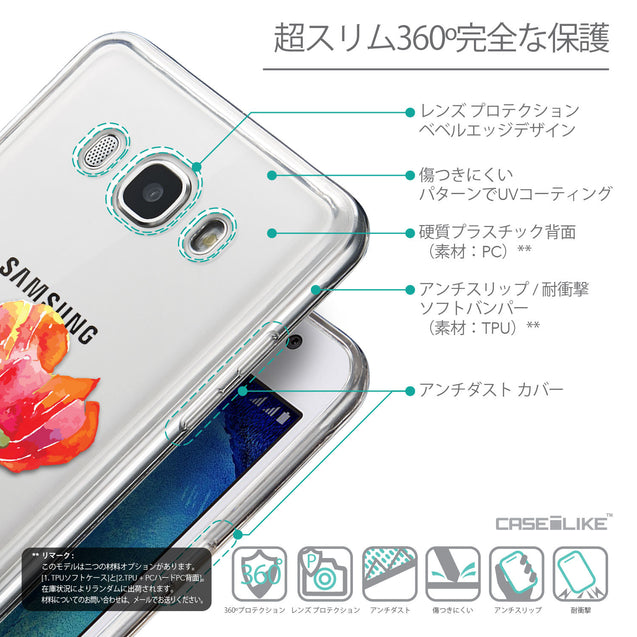 Details in Japanese - CASEiLIKE Samsung Galaxy J5 (2016) back cover Watercolor Floral 2230