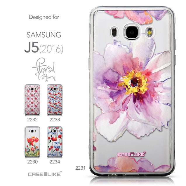 Collection - CASEiLIKE Samsung Galaxy J5 (2016) back cover Watercolor Floral 2231