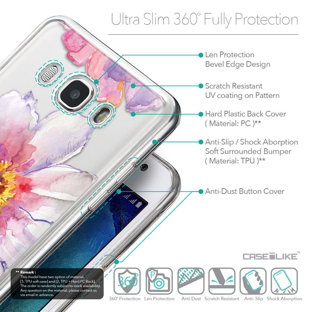 Details in English - CASEiLIKE Samsung Galaxy J5 (2016) back cover Watercolor Floral 2231