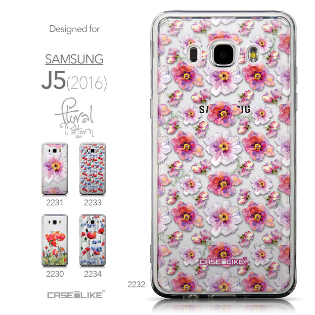 Collection - CASEiLIKE Samsung Galaxy J5 (2016) back cover Watercolor Floral 2232