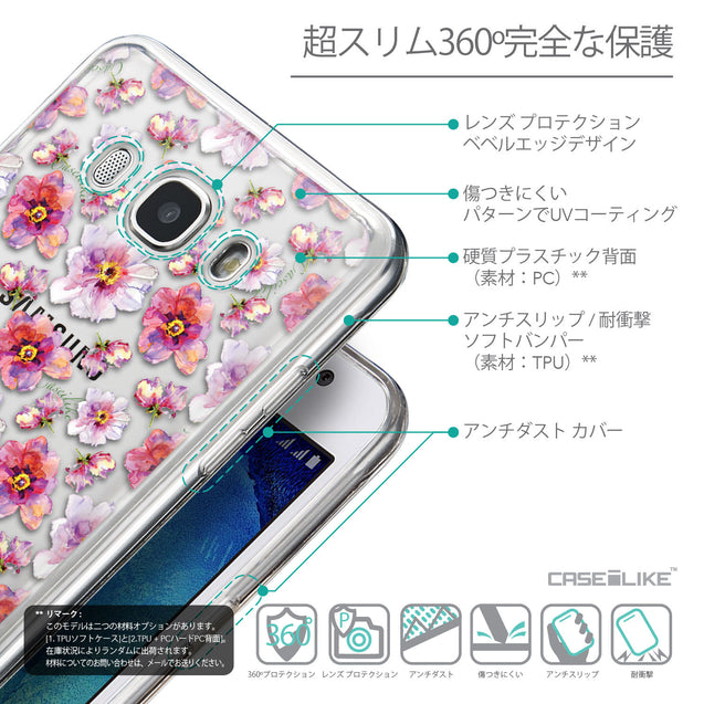 Details in Japanese - CASEiLIKE Samsung Galaxy J5 (2016) back cover Watercolor Floral 2232