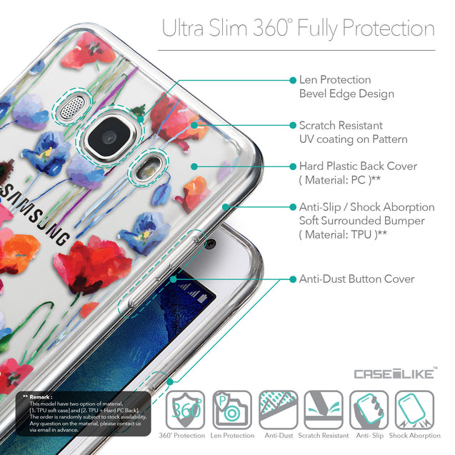 Details in English - CASEiLIKE Samsung Galaxy J5 (2016) back cover Indian Line Art 2061