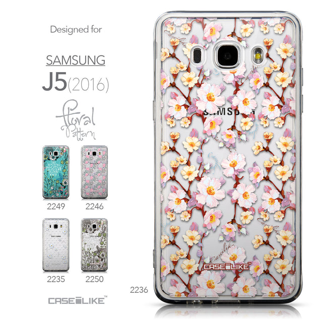 Collection - CASEiLIKE Samsung Galaxy J5 (2016) back cover Watercolor Floral 2236
