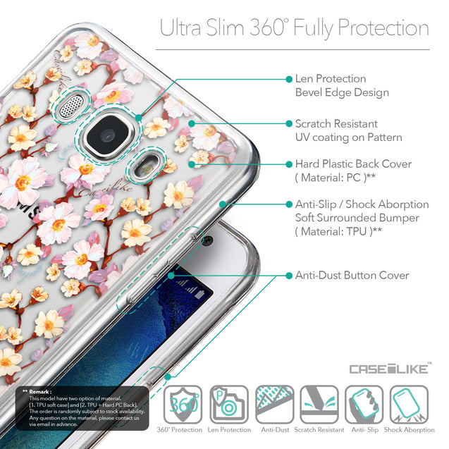 Details in English - CASEiLIKE Samsung Galaxy J5 (2016) back cover Watercolor Floral 2236