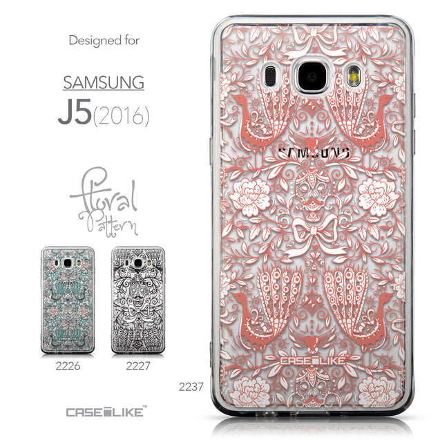 Collection - CASEiLIKE Samsung Galaxy J5 (2016) back cover Roses Ornamental Skulls Peacocks 2237