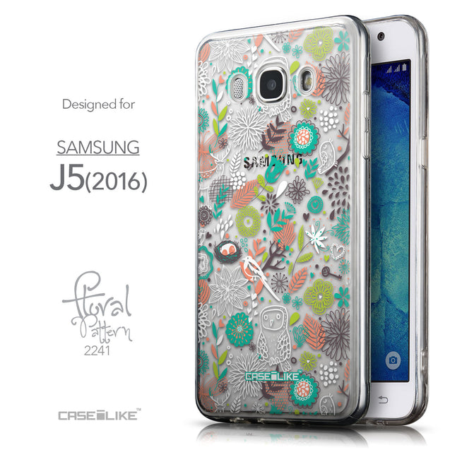Front & Side View - CASEiLIKE Samsung Galaxy J5 (2016) back cover Spring Forest White 2241