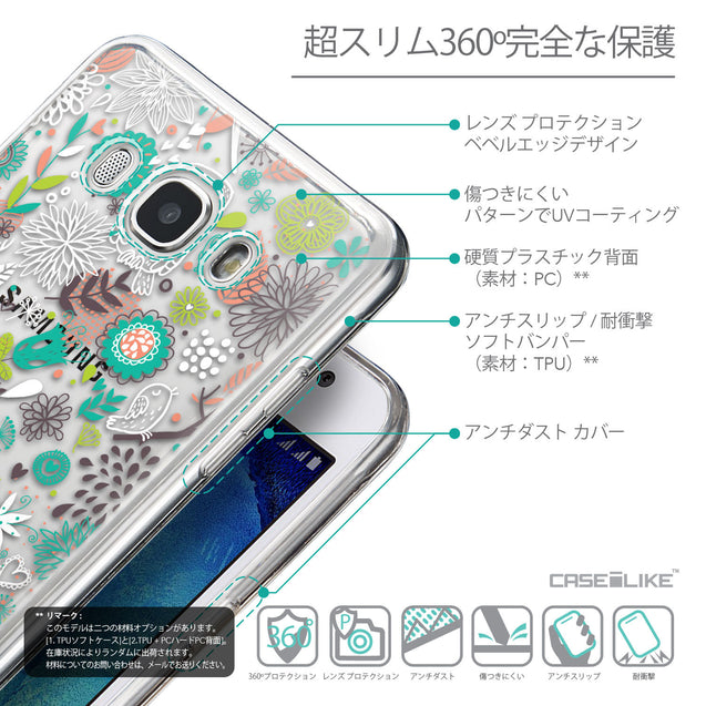 Details in Japanese - CASEiLIKE Samsung Galaxy J5 (2016) back cover Spring Forest White 2241